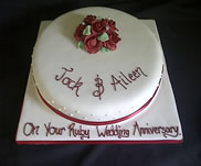 Ruby Wedding cake 1-£50