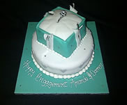 Tiffany Box cake-£60