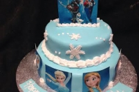 2 tier frozen with images-£45